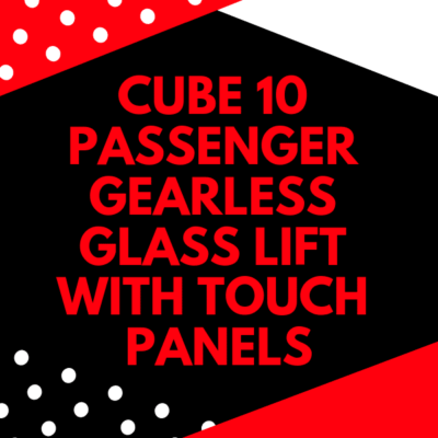 10 passenger gearless glass lift with touch panels (1)